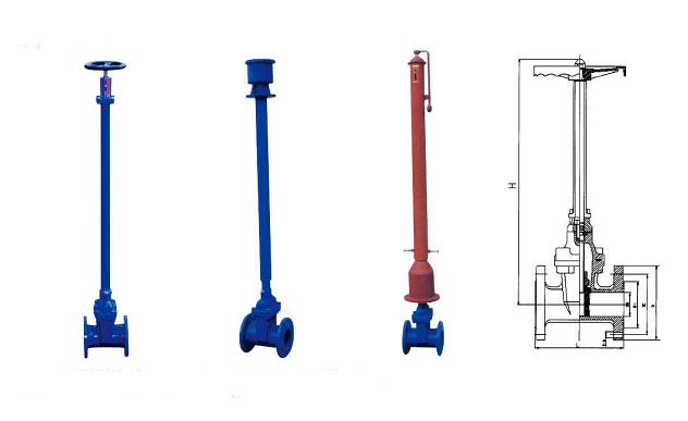 Resilient Seated Underground Gate Valve with Extension Spindle