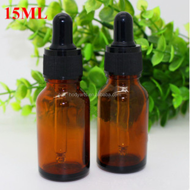 Wholesale High Quality and Cheap Price 15ml Glass Essential Oil Bottle with Dropper Caps