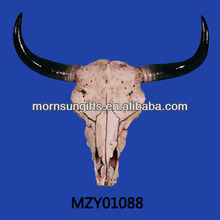 Newly Hand Craved Cow Skull Horn for Wall Decoration