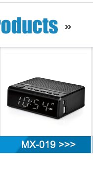 Hotel red led Clock radio Working With Smartphones , Tablets, MP3 Players