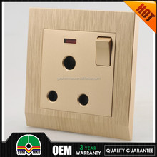 single phase 15 amp switched socket, 3 round pin combination switch socket outlet