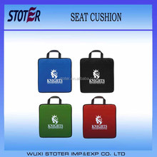 Promotion Polyester Foam Stadium Seat Cushion with Front Pocket