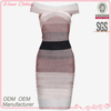 Hot sale fashion design ombre color bandage dress