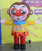 2m high inflatable walking monkey cartoon for sale C-245