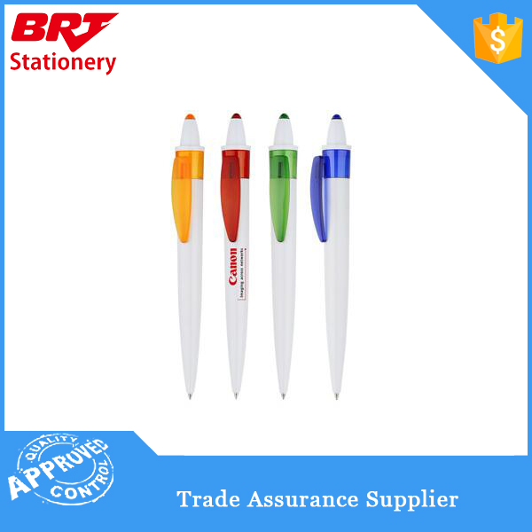 Custom Logo white color ballpoint pen