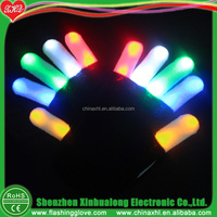 Comfortable flashing LED glove