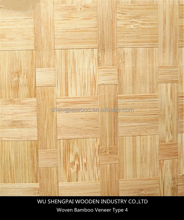 cheap artificial woven bamboo wood veneer sheets for decorative skateboards thin commercial sheets