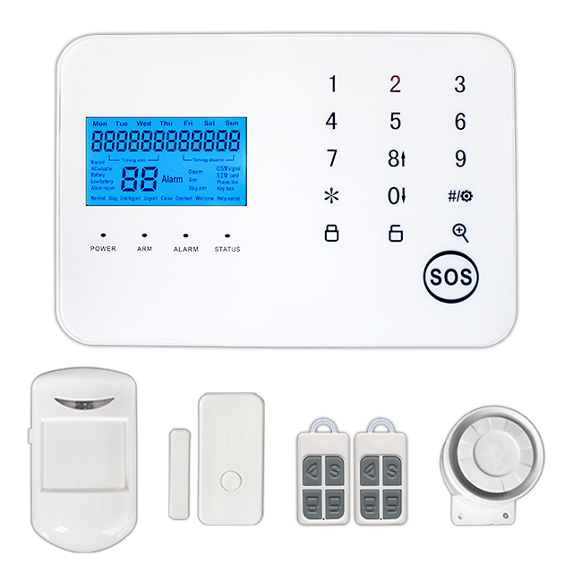 Home/Office/Industry Wireless Security GSM 3G Sim-card Alarm System Work with IP Camera