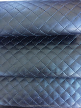 Quilted PU synthetic leather laminated with foam