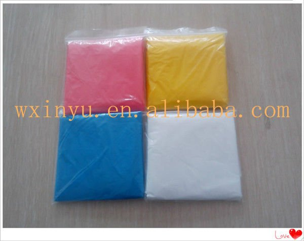 PE-019 PE cheap waterproof disposable plastic raincoats