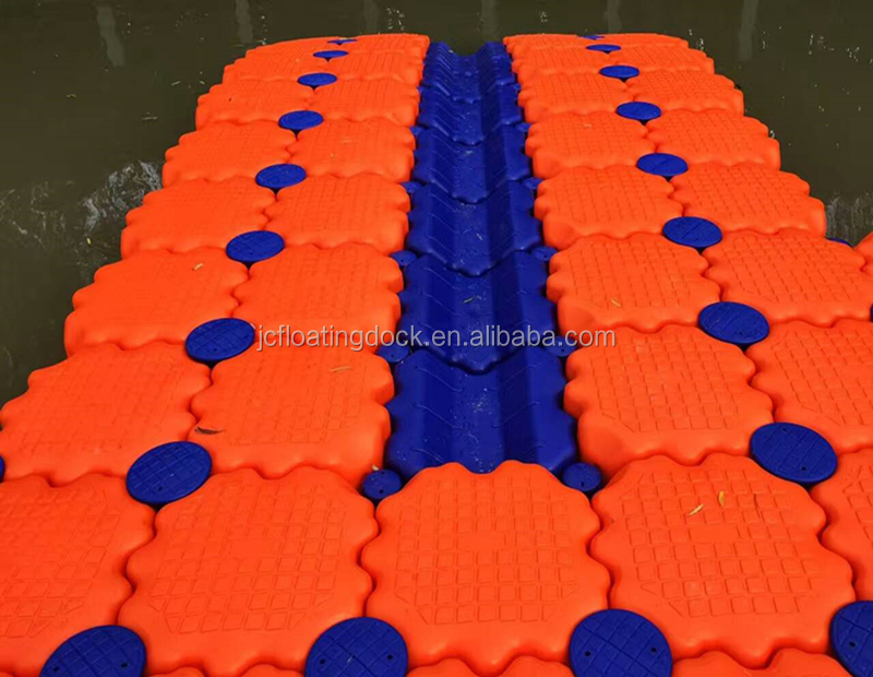 Jiachen Good quality Modular plastic hdpe for floating pontoon floating bridge platform
