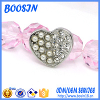 Mini Pearl Heart Shape Brooch with Safety Pin