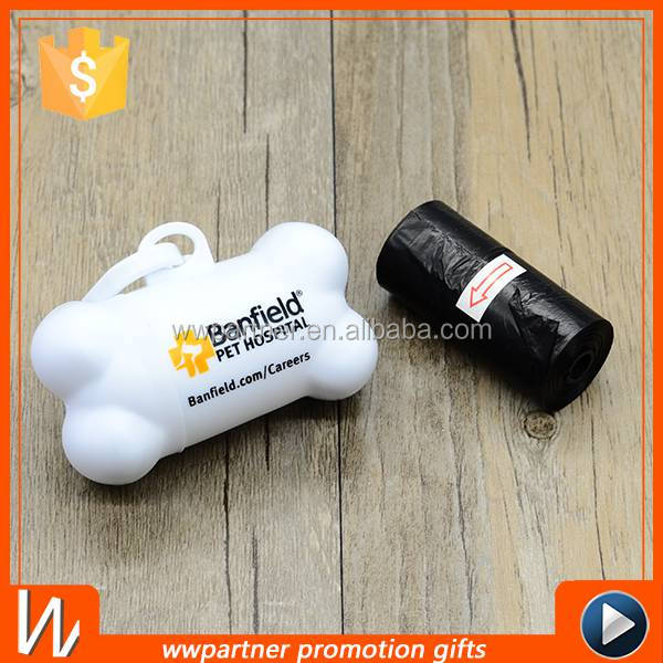 Bone Shape Plastic Dog Poop Bag Dispenser