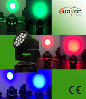 High quality LED Wash 7*15W moving head light with zoom colorful light shows on stage effect uplighting