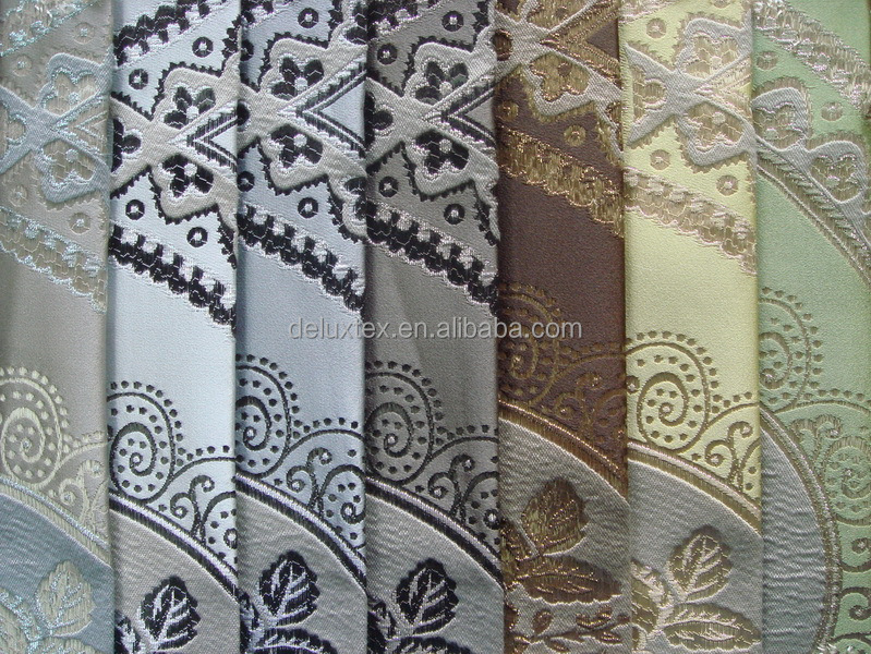 Luxuriant sheer blackout curtain jacquard fabric by the yard