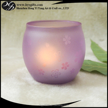 cute pink fish pot shaped glass jar candle holder