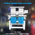 Fuwei double heads 15 needles cap embroidery machine with 3D cap embroidery
