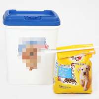 Wholesale large square airtight plastic pet dog food storage container with lid
