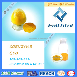 Hot sale coenzyme Q10 USP/Pure EP COQ 10 powder /plant extraction co q10 whitening skin Purity 98%manufacturer