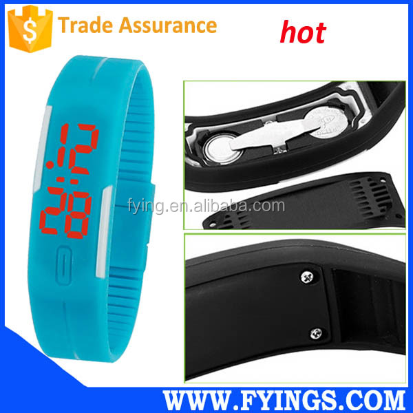 led silicone watch, korea mini miniature watch,silicone straps led watch