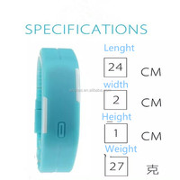 2015 New Product Fashion Silicone led Sports Watch