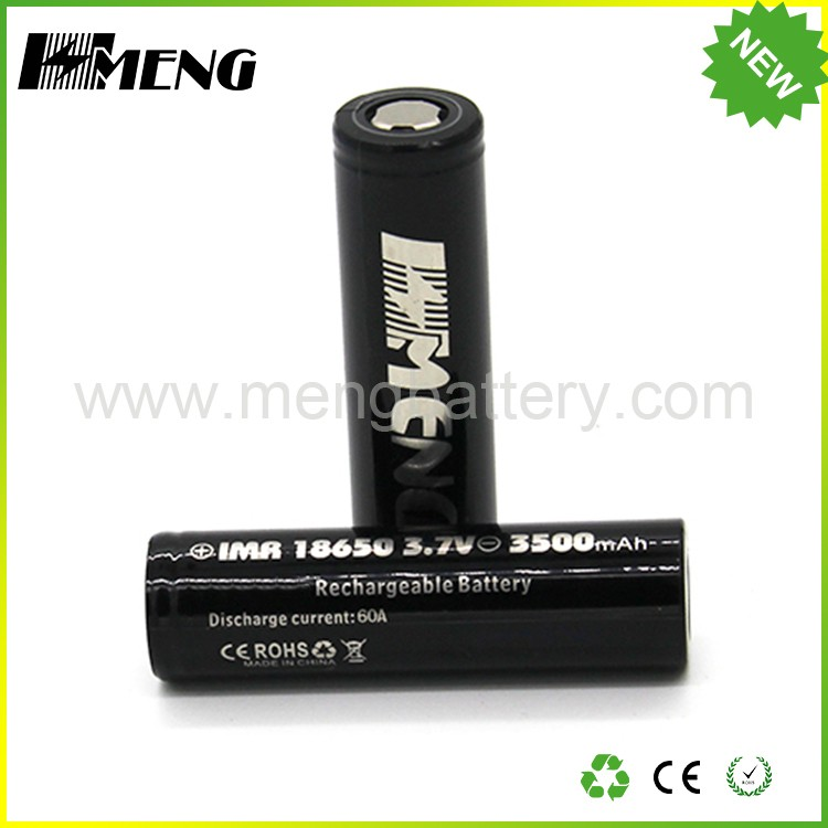 Factory Price MENG 18650 3500mah battery Lithium ion battery rechargeable 18650 battery with 60A Max Discharge