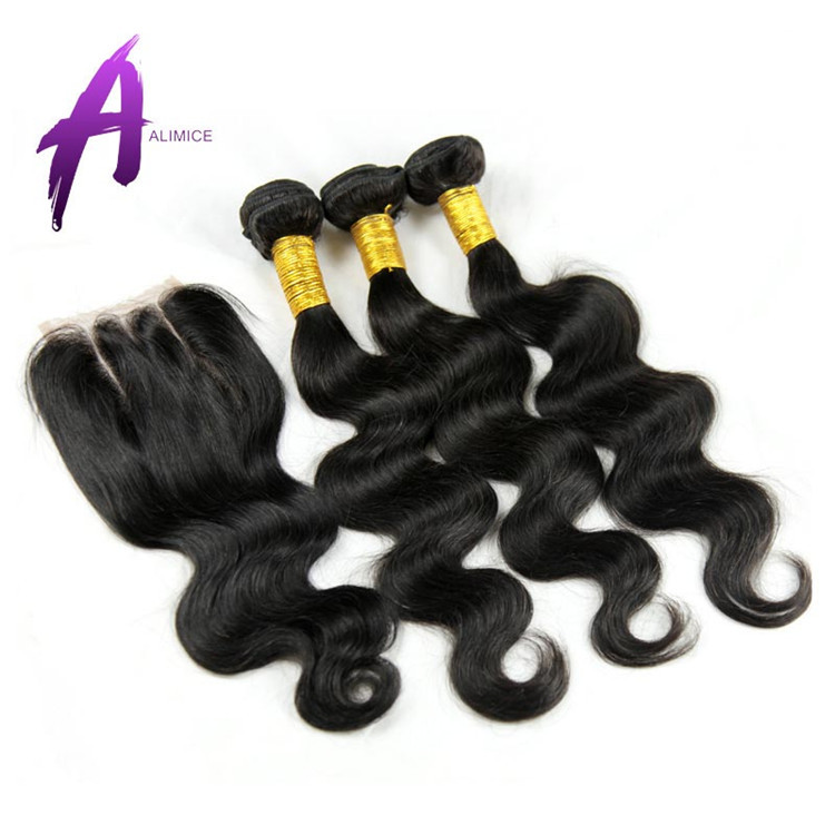 New arrive Virgin Human hair extension brand name hair weave, No tangle No shedding Wholesale price Mixed length bundles