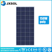High quality solar energy system price 150watt solar panel with a,b grade solar cell