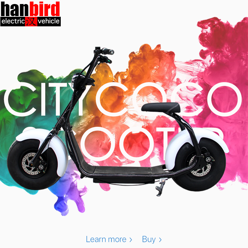 Hanbird High Quality Electrical Two Wheels Stand Up Electric Scooter for teenagers
