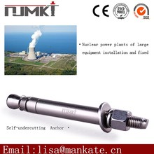 Self-undercut anchor good long shank eye bolts for construction reinforcement