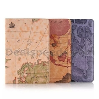 Map Style Wallet Stand TPU+ PU Leather Case for iPad Mini 4