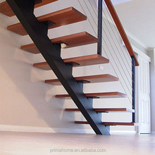 Factory Direct Price For Stainless Steel Single Beam Wooden Stairs