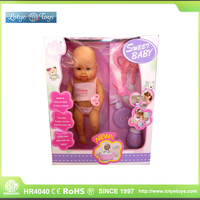 Cute 15 inch free soft silicone baby dolls for kids