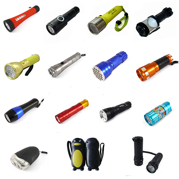 Led Dynamo hand charge led flashlight torch