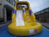 kids game China outdoor inflatables swimming pool slide/inflatable slide with pool