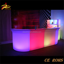 commercial bar furniture 16 colors remote contral white PE plastic high bar cocktail table illuminated led bar
