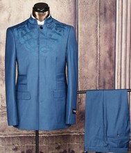 wholesale China latest stand collar wedding suit for men