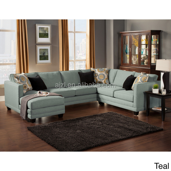 Modern Fabric Upholstered Sectional Sofa Set