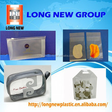 new invented products clear pvc zipper waterproof zip lock bag
