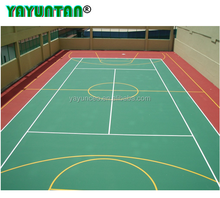 Guangzhou hot sale Anti - Slip polyurethane Sport Cover For Tennis Court floor Surface