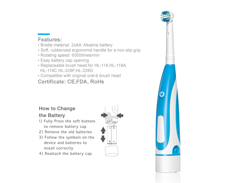 compatible oral famous power toothbrush-new item