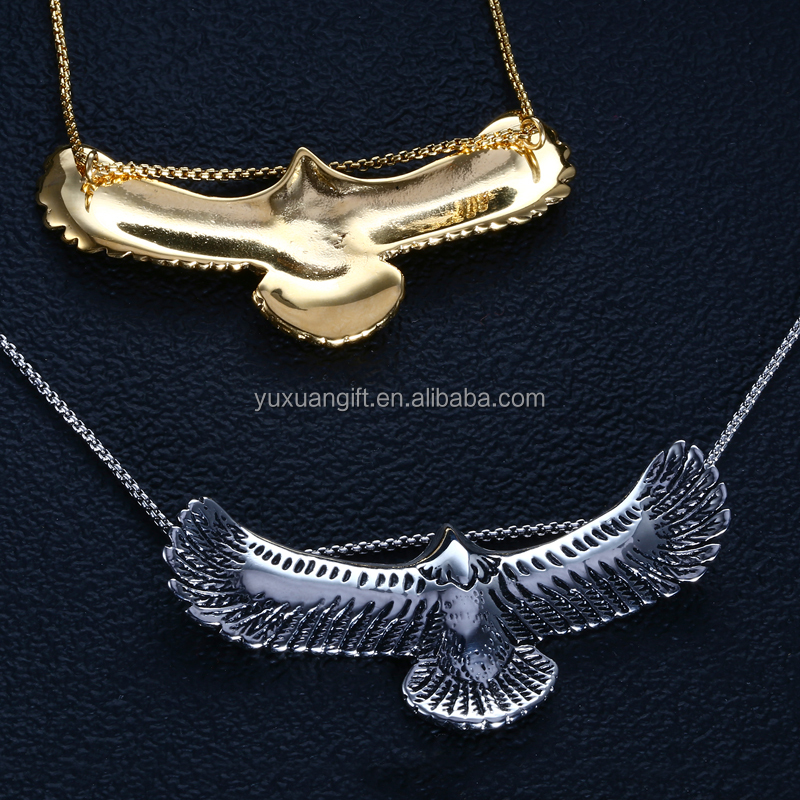 Hot Selling Vingate Albanian Eagle Pendant Necklace In Stainless Steel