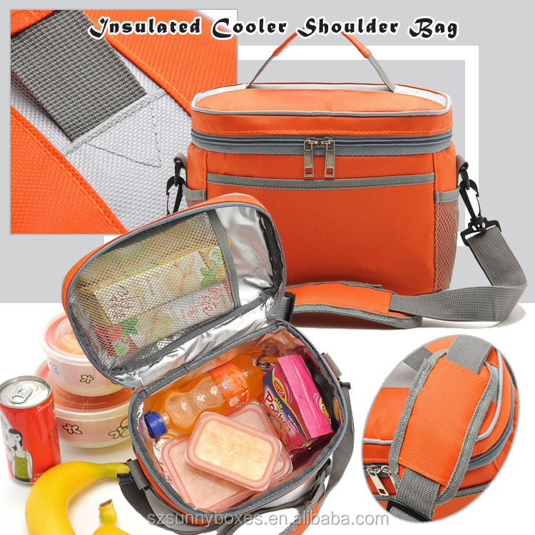 600D Oxford Portable 6 Cans Cooler Insulated Lunch Shoulder Bag