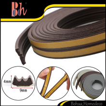 Self-Adhesive E Type Seal Strip Doors Windows EPDM Rubber Foam Sealing Strip Draught Excluder Anti-Collision Sound Insulation