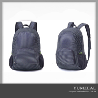 2016fashionable print folding travel backpacks/nylon folding back packs for gilrs