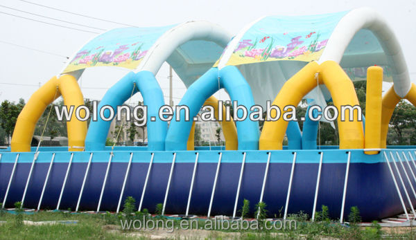 2016 fun attraction factory adults inflatable swimming pool