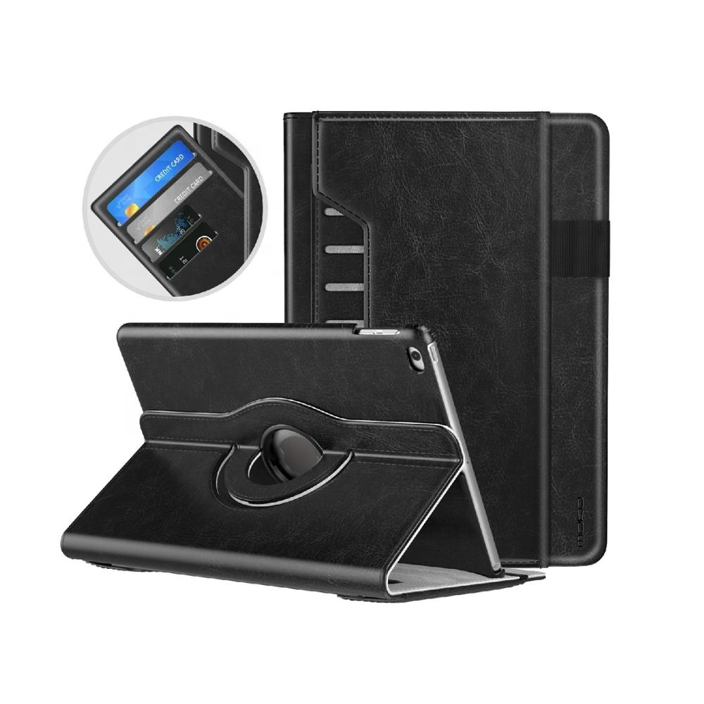 MoKo Shockproof 360 Rotate PU leather tablet case cover for <strong>ipad</strong> 9.7 2018/2017