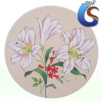Lily design ceram round pot holder