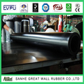 Great Wall Fabric surface Hypalon rubber sheet 1- 15mm black Hypalon rubber