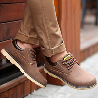 Manufacture , Factory2016 New Arrivel Men's Fashion Solid England Style Shoes Male Casual Vintage Easy-match Breathable PU Shoes